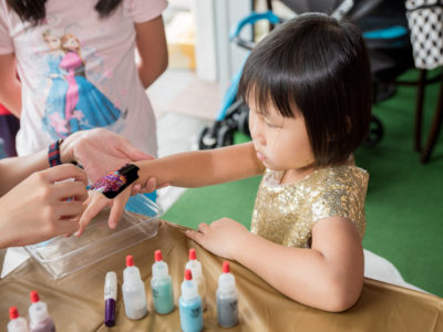 glitter tattoo for kids party
