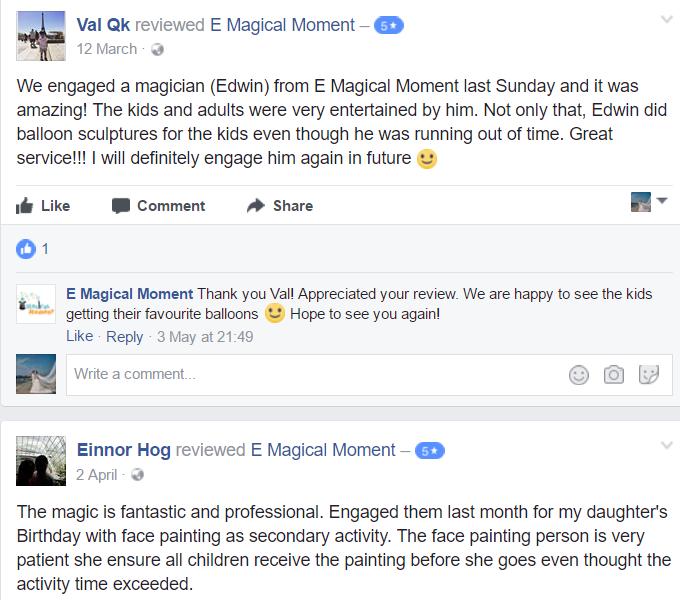 E Magical Moment Reviews